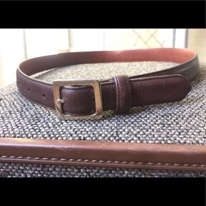 COACH M BELT MAHOGANY GLOVE TANNED COWHIDE USA